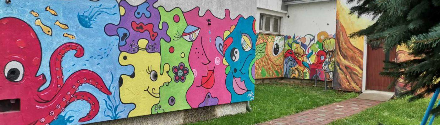Školu je oslikala Kreativna udruga mladih.